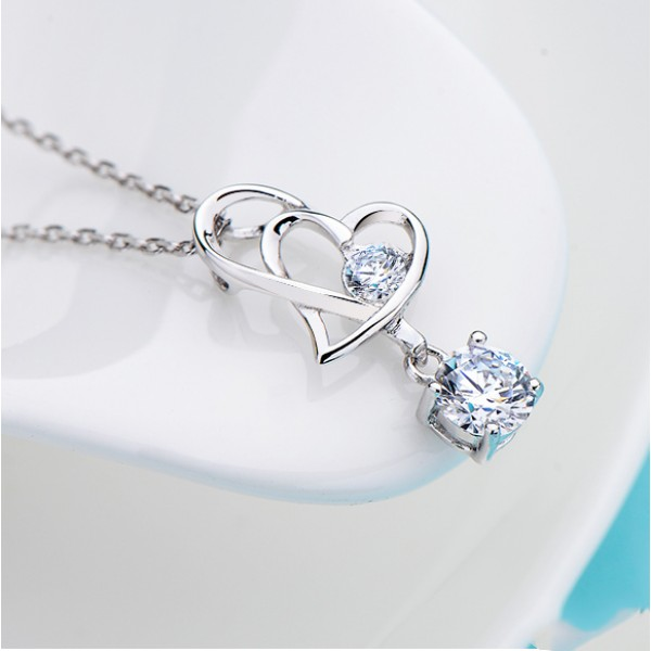 Beautiful Meaning Heart Connected 925 Sterling Silver ...