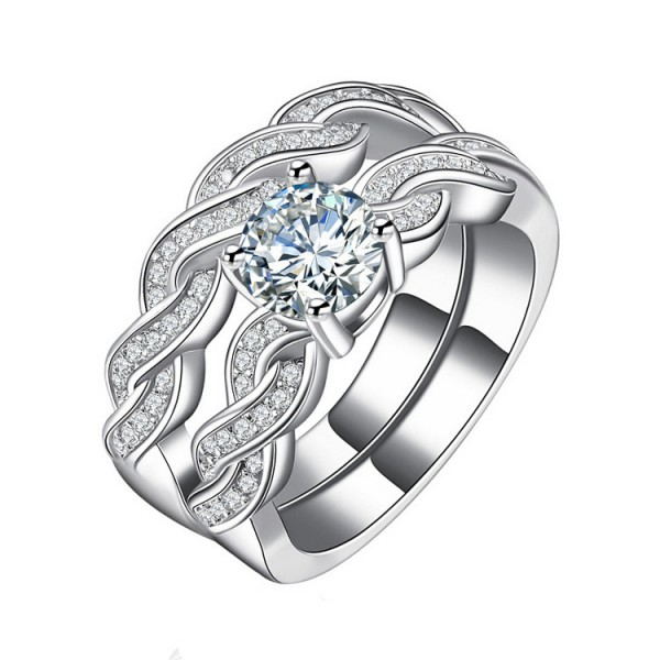 high quality cubic zirconia wedding rings high quality weave intersect inlaid cubic zirconia 4795