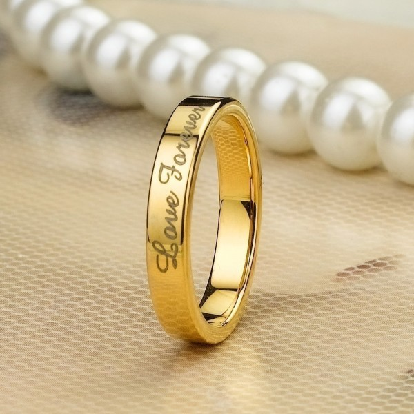 18K Golden Filled Tungsten Lover Rings For Couples Price For A