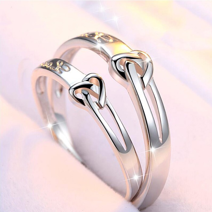 karatcart plated elegant trendy platinum austrian price crystal dp buy for rings women cut adjustable heart ring