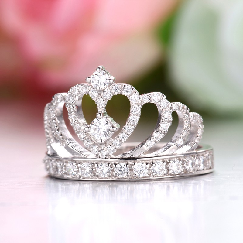 Permalink to Sterling Silver Princess Crown Ring
