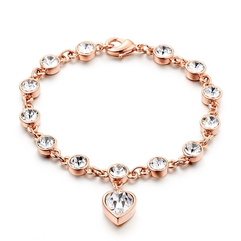 Love Rose Gold Diamond Bracelet For Women S