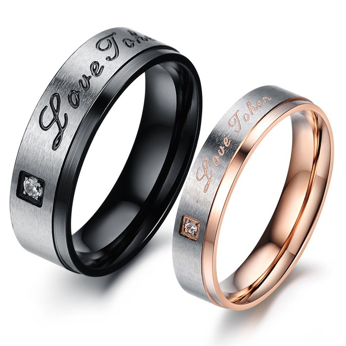 ring finger steel itm matching for wedding couple lovers rings love jewelry c forever zv