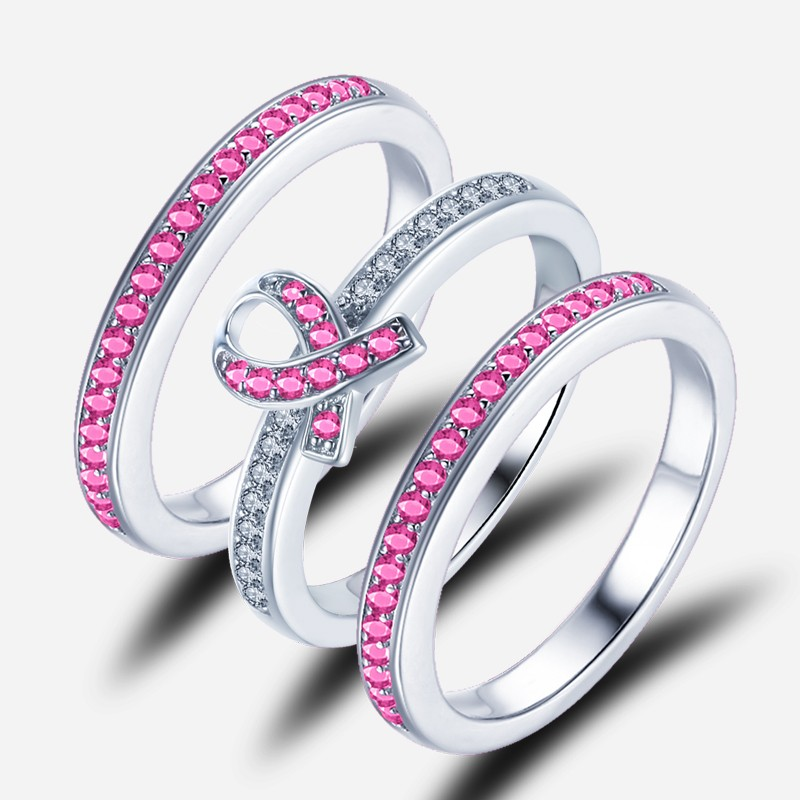 jewelry vintage wedding bague ring stone fashion color item in white pink diamond rings big zircon plated women engagement mdean bands for aaa gold from cz
