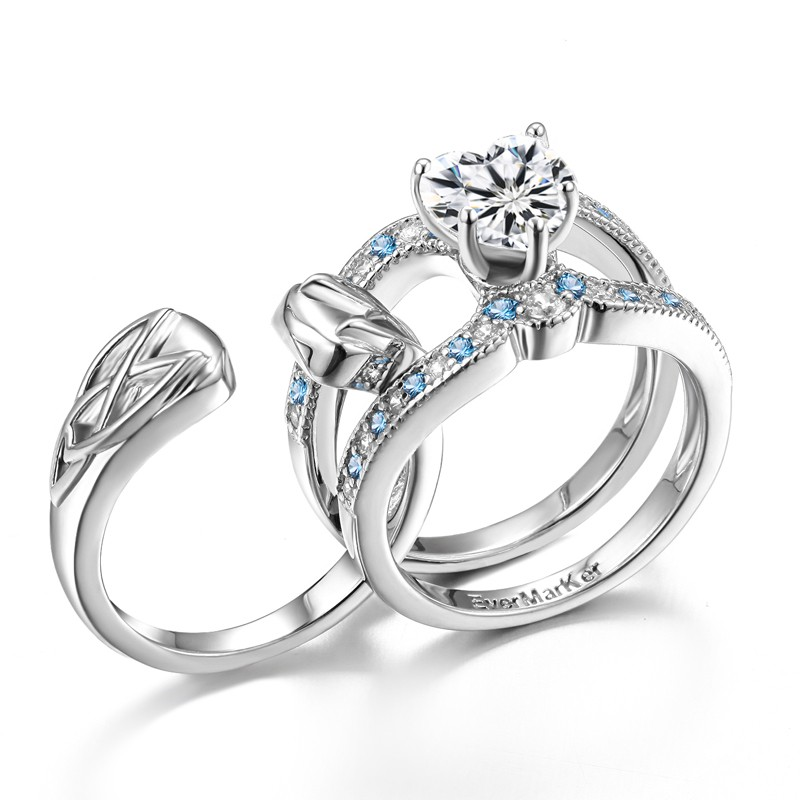 Exquisite 925 Sterling Silver Blue Cz Engagement Ring Set. Los Angeles Kings Rings. Celebrity Man Engagement Rings. Slim Wedding Rings. Pendant Rings. Baguette Engagement Rings. Inlaid Engagement Rings. Promise Rings. 1.3 Carat Wedding Rings