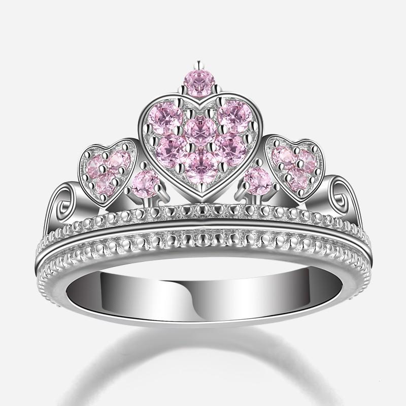 original designed element pink cz 925 sterling