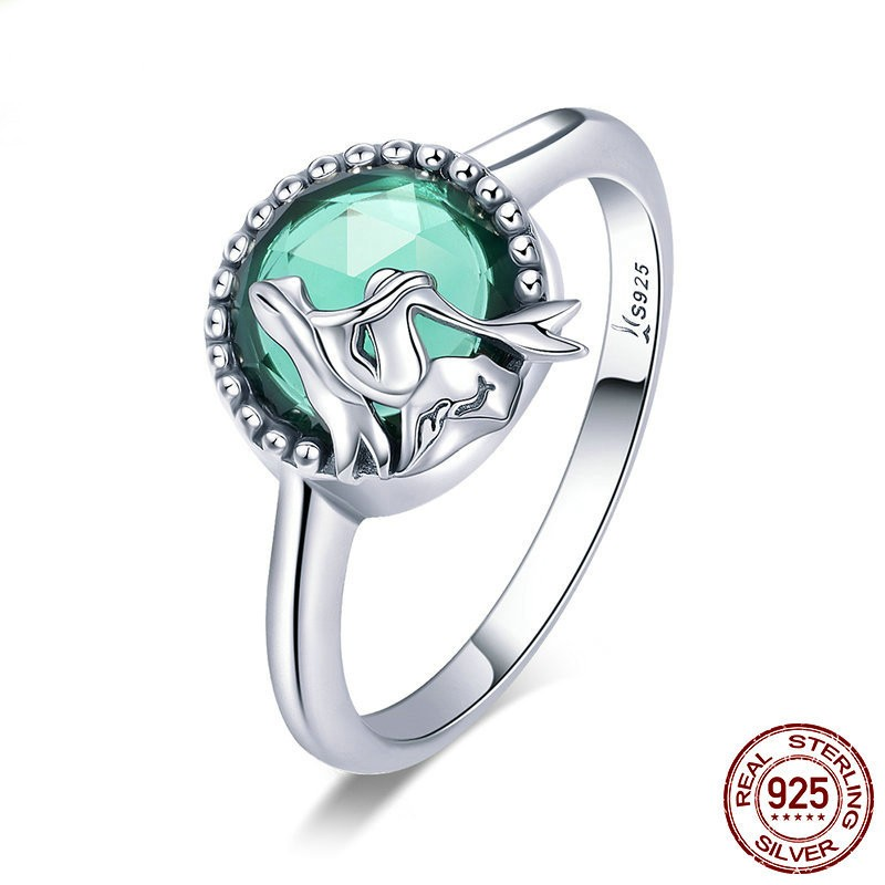 73ffdb828 Personalized 925 Sterling Silver Cubic Zirconia Mermaid Ring