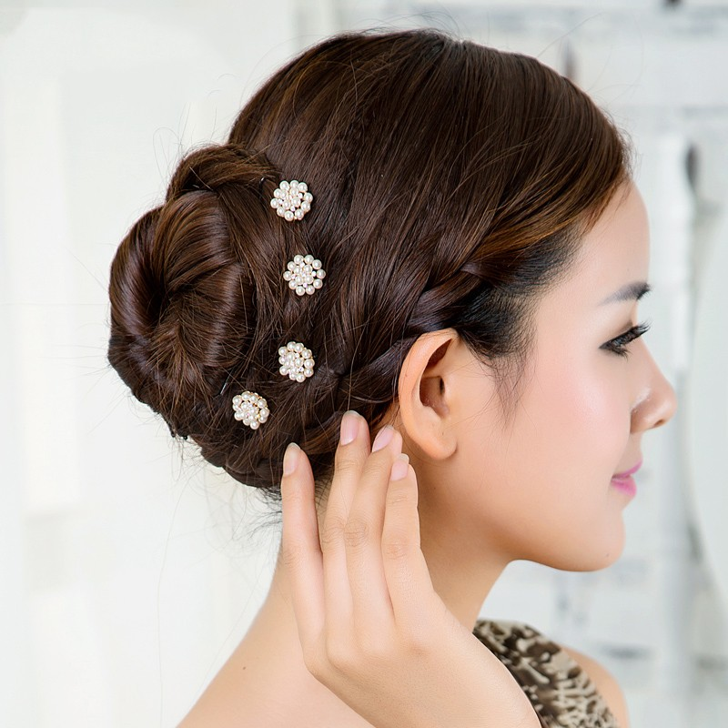 1pcs Lovely Charm Wedding Bridal Party U Shaped Pearl Hair Pins