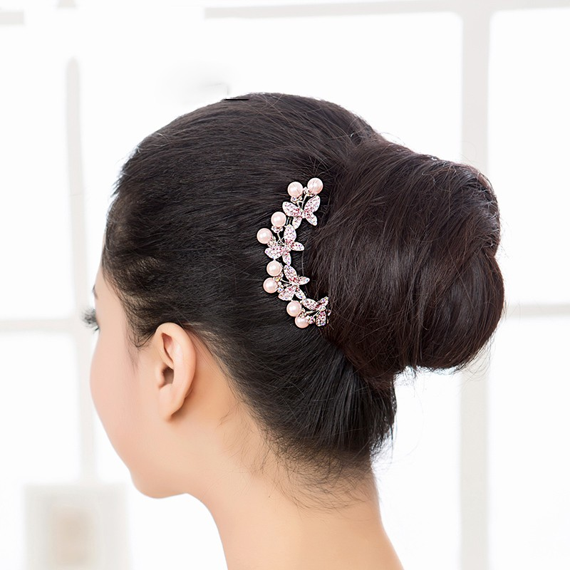 1pcs Lovely Charm Wedding Bridal Party Pearl Hair Pins Clips Grips Hairpins Bridesmaid