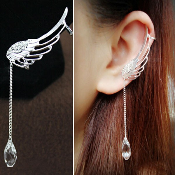 29a9cc2f4 Most Popular Wing Shaped With Crystal Earring Price For A Pair ...