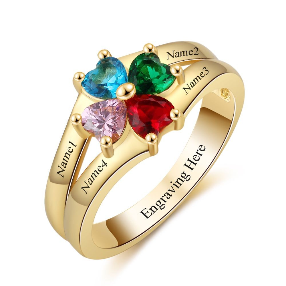 6025671efb6b2e Family Rings With Birthstones - Foto Ring and Wallpaper