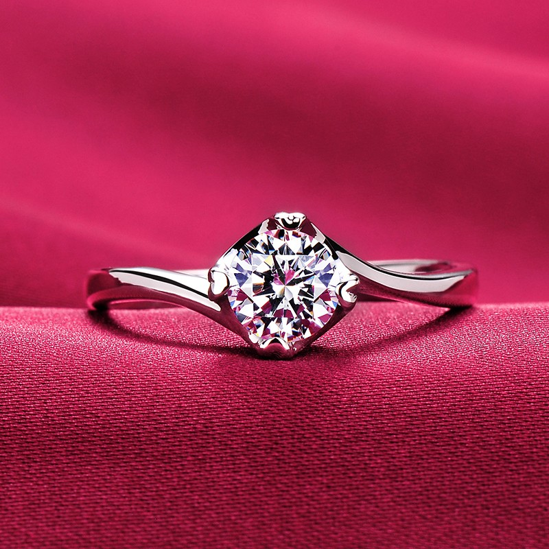 20695a4a0764c 0.5 Carat Simulated Diamond Engagement/Wedding/Promise Ring For Her