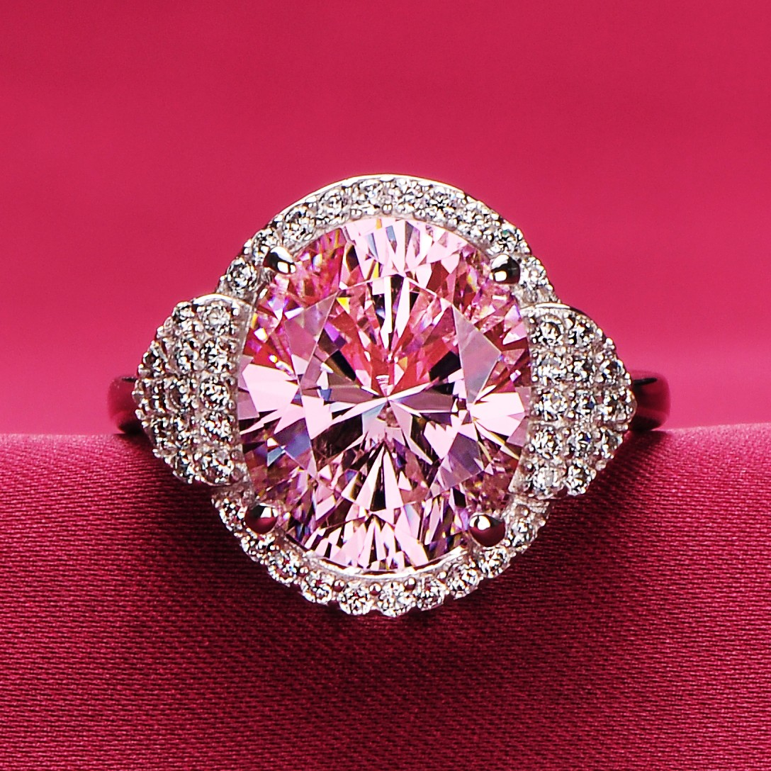4.0 Carat Pink Simulated Diamond Engagement/Wedding/Promise Ring For Her