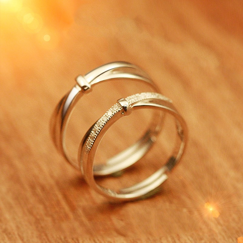 925 sterling silver simple opening engraved rings