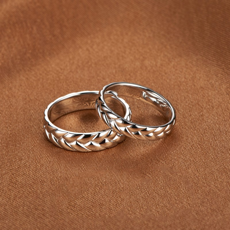 Simple 925 Silver Couple Rings - Couple Rings