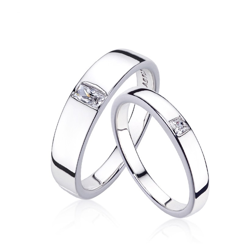 straight ring rings platinum jewellery engagement chelsea gabriel round co