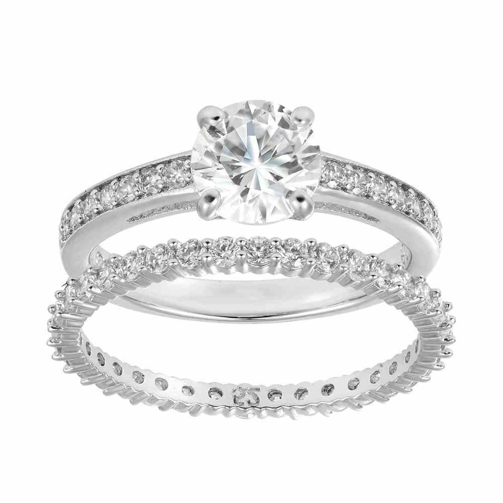 Transparent Crystal Texture Romantic Engagement Ring