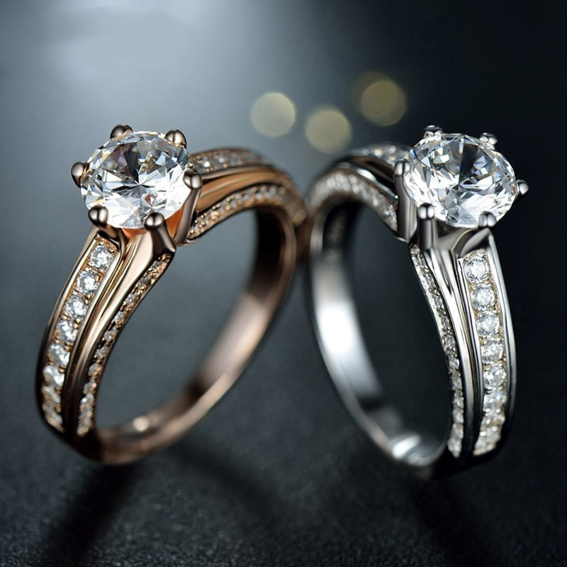 rings prong cut ring classic wide white engagement pre gold band odiz solitaire products set diamond round shiree