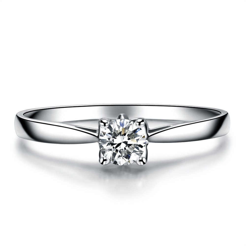Simple Low-Key 925 Sterling Silver Plated Gold Inlaid Cz ...