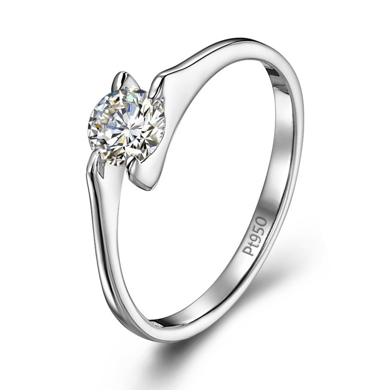 8ff94ead7b Upscale Luxury 0.3ct Cubic Zirconia And Sterling Silver With Platinum ...