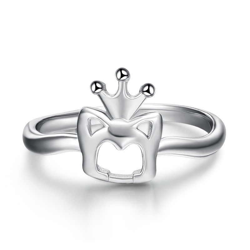 d82e11a53f4d Personalized 925 Silver Queen Crown Ring - Crown Rings