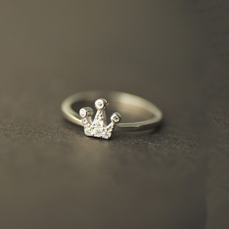 925 Silver New Fine Cute Crown Ring - Crown Rings