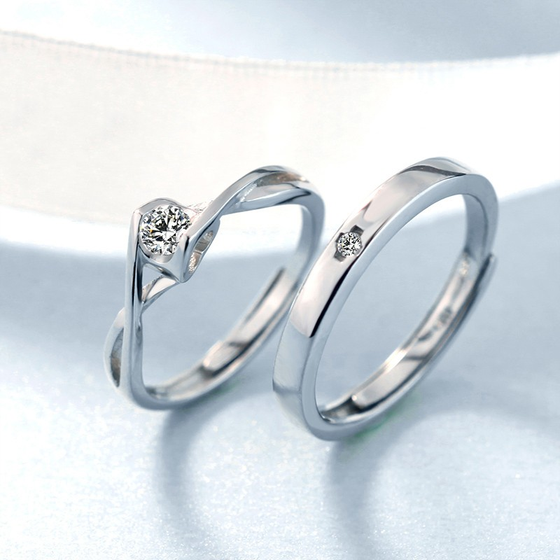 Valentine S Gift 925 Silver Fashion Creative Couple Rings Couple