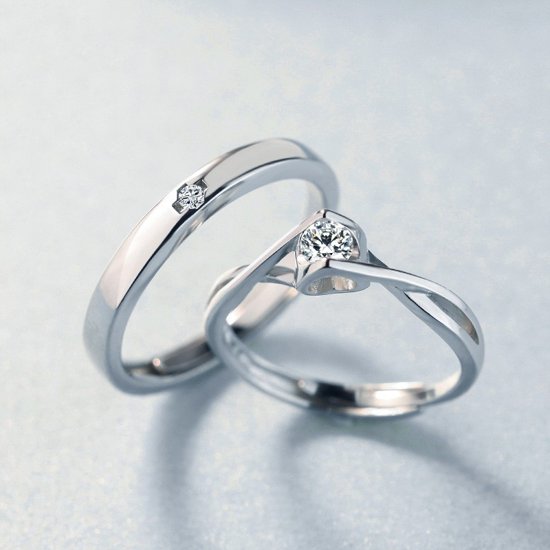 Valentine U0027s Gift 925 Silver Fashion Creative Couple Rings
