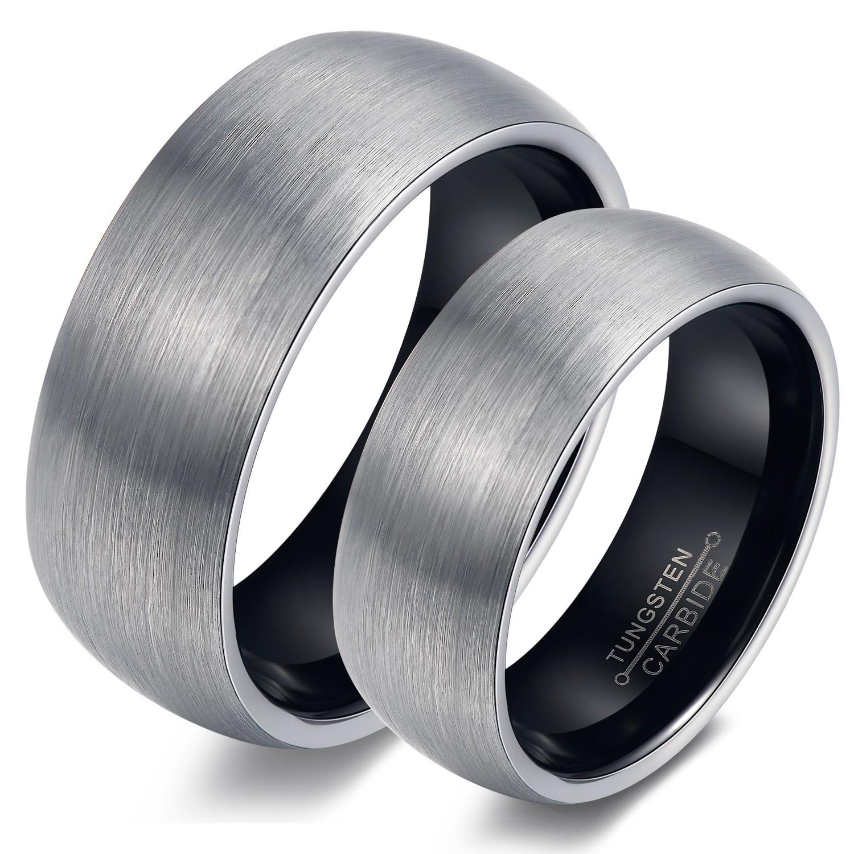 New Desgin Round Rose Gold Black Men Rings Tungsten