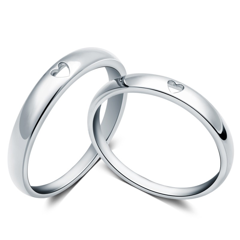 36621b878b Classic Style Creative Hollow Heart-Shaped Couple Rings - Couple Rings