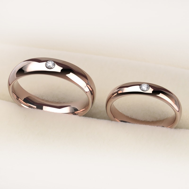 simple rose gold tungsten promise rings for couples. Black Bedroom Furniture Sets. Home Design Ideas