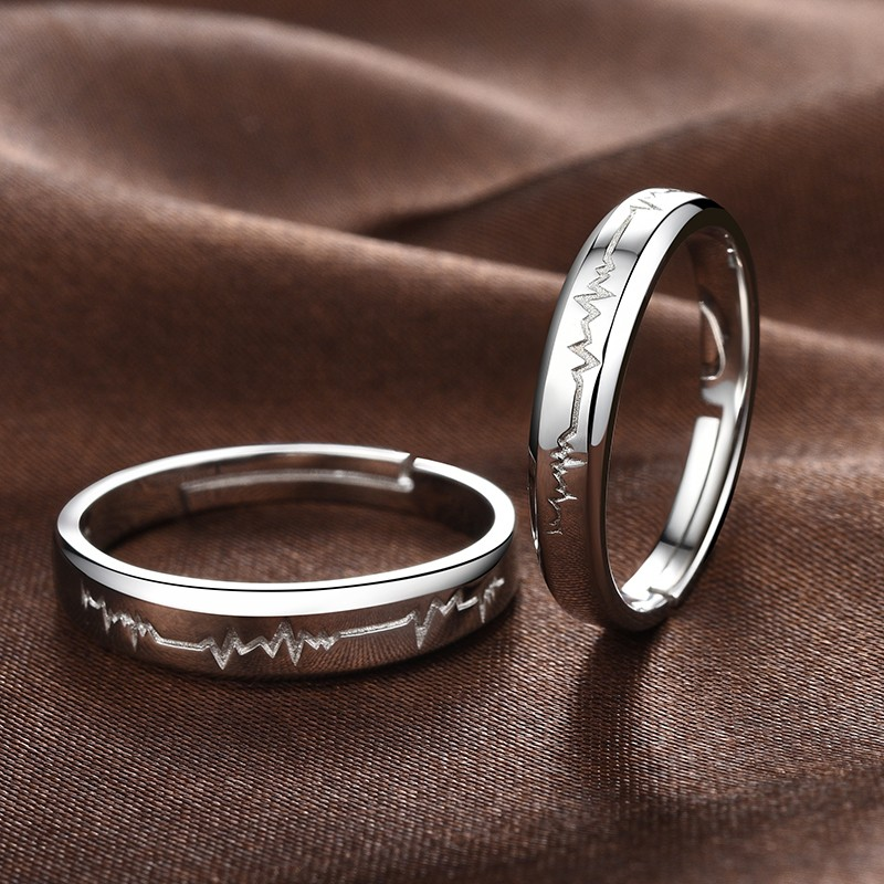 a00cf0139b Latest 925 Sterling Silver Emulation Diamond Lover's Rings(Price for ...