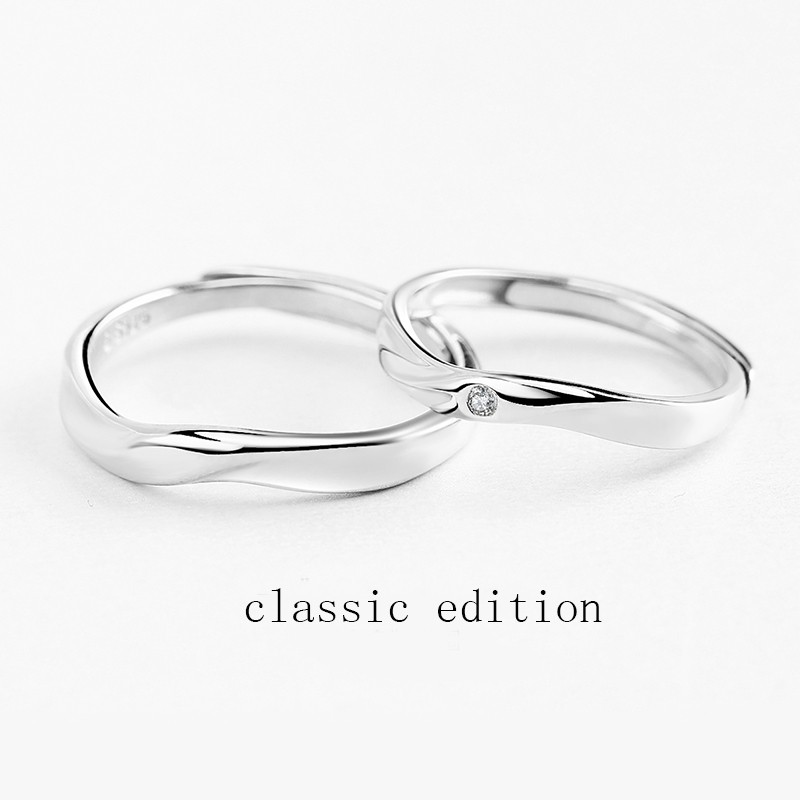 Mobius Couple Openging Ring Japanese And Korean Fashion Original Design