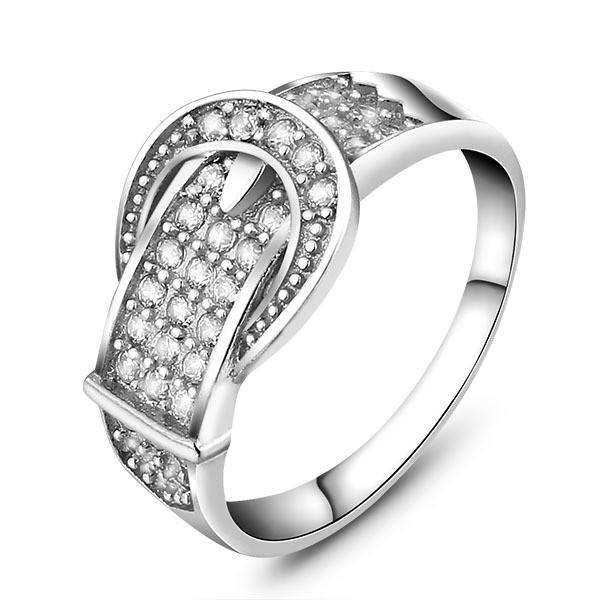 Unique Design 925 Sterling Silver CZ Ring For Women