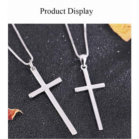 Cross Pendant Necklace for Couples 925 Silver Lover Necklaces