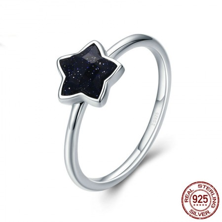 Personalized 925 Sterling Silver Cubic Zirconia Star Ring
