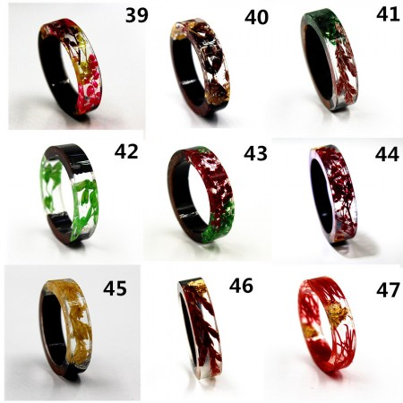 25 Colors Secret Wood Resin Rings