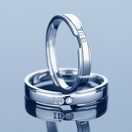 I Do Promise Rings For Couples In 925 Sterling Silver Adjustable Couple Rings