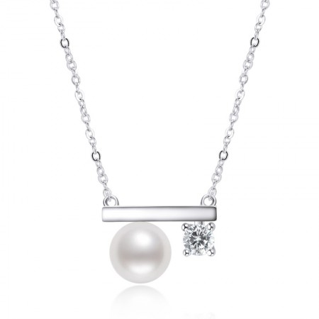 S925 Sterling Silver Pearl Necklace Female Ins Light Luxury All-match Pendant Clavicle Chain