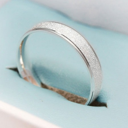 Simple But Refined Design Shinning Frosted Man's Ring