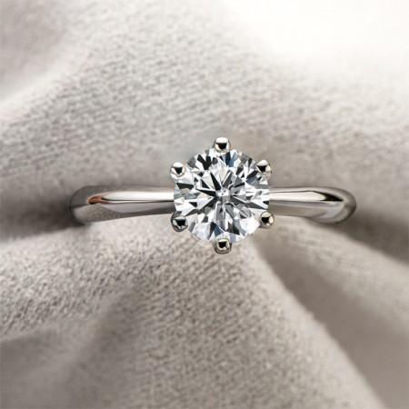 Sterling Silver 1.0 ct Moissanite Promise/Wedding/Engagement Ring For Women Girl Friends Valentine's Day Gift