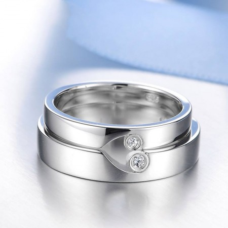 925 Silver Fashion Creative Engraved Couple Rings