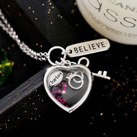 Believe True Love 925 Sterling Silver With CZ Necklace