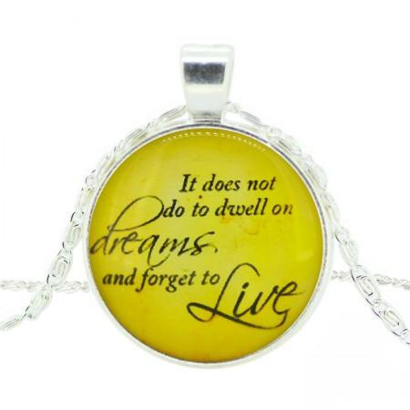 Beautiful Sentence Time Gemstone Necklace