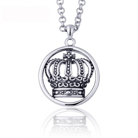 Romantic Imperial crown 925 Sterling Silver Women's Necklace