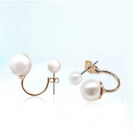 Fashion Western Style Double Pearl Stud Earrings For Women