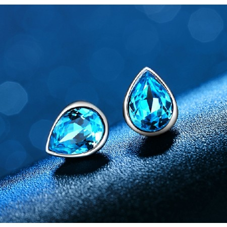 Charming 925 Sterling Silver Drops Of Water Stup Earring For Women