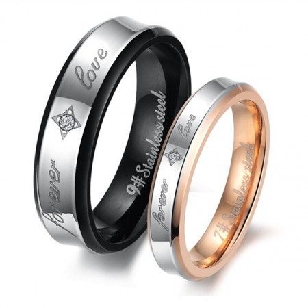 Forever Love With Shining Stars Lover Rings(Price For a Pair)