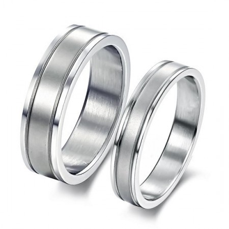 Simple Life Concise Love Engravable Lover Rings Titanium Steel Rings For Lovers(Price For A Pair)