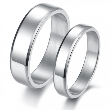 Concise Style Engravable Lover Rings Titanium Steel(Price For A Pair)